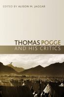 Cover image for Thomas Pogge and his critics