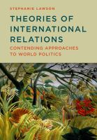 Cover image for Theories of international relations : contending approaches to world politics