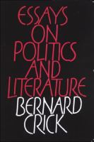 Cover image for Essays on politics and literature