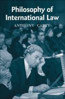 Cover image for Philosophy of international law