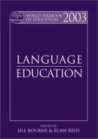 Cover image for Language education