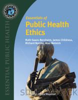 Cover image for Essentials of public health ethics