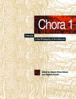Cover image for Chora: Intervals in the Philosophy of Architecture