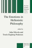 Cover image for The emotions in Hellenistic philosophy