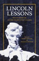Cover image for Lincoln Lessons Reflections on America's Greatest Leader