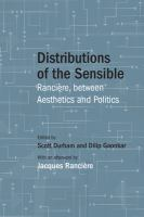Cover image for Distributions of the sensible : Rancière between aesthetics and politics