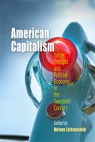 Cover image for American Capitalism Social Thought and Political Economy in the Twentieth Century
