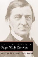 Cover image for A political companion to Ralph Waldo Emerson