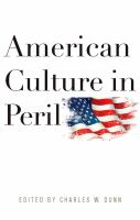 Cover image for American culture in peril