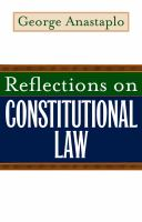 Cover image for Reflections on Constitutional Law