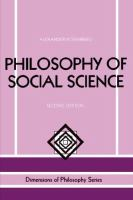 Cover image for Philosophy of social science.