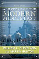 Cover image for A history of the modern Middle East