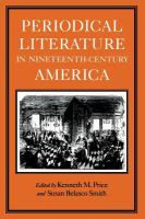 Cover image for Periodical literature in nineteenth-century America