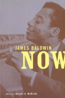 Cover image for James Baldwin now