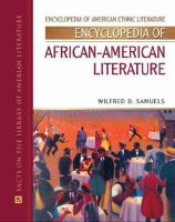 Cover image for Encyclopedia of African-American literature