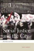 Cover image for Social Justice and the City