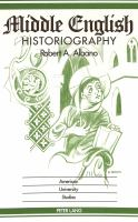 Cover image for Middle English historiography