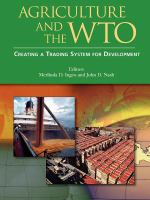 Cover image for Agriculture and the WTO : creating a trading system for development