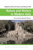 Cover image for Nature and History in Modern Italy