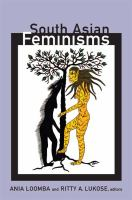 Cover image for South Asian feminisms contemporary interventions