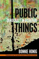 Cover image for Public Things Democracy in Disrepair