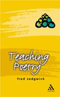 Cover image for Teaching poetry.