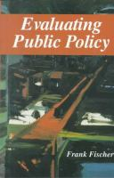 Cover image for Evaluating public policy