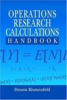 Cover image for Operations research calculations handbook