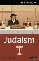 Cover image for Judaism an introduction