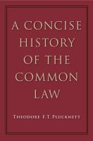Cover image for A concise history of the common law