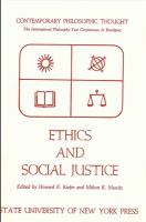 Cover image for Ethics and social justice