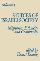 Cover image for Studies of Israeli society