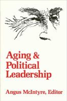 Cover image for Aging and political leadership