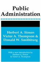 Cover image for Public administration