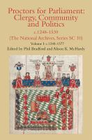 Cover image for Proctors for Parliament : clergy, community and politics, c.1248-1539 (The National Archives, series SC 10)