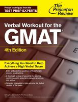 Cover image for Verbal workout for the GMAT.