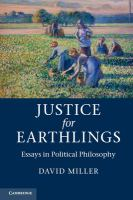 Cover image for Justice for earthlings : essays in political philosophy