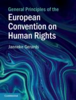 Cover image for General principles of the European Convention on Human Rights law