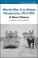 Cover image for World War II in global perspective, 1931-1953 : a short history