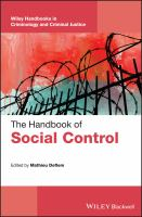 Cover image for The handbook of social control