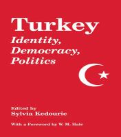 Cover image for Turkey : identity, democracy, politics