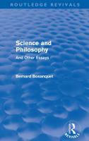 Cover image for Science and philosophy and other essays