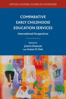 Cover image for Comparative Early Childhood Education Services International Perspectives