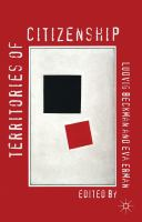 Cover image for Territories of Citizenship