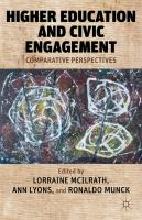Cover image for Higher Education and Civic Engagement Comparative Perspectives