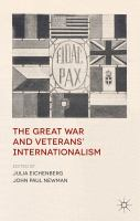 Cover image for The Great War and Veterans' Internationalism