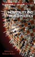 Cover image for Hospitality and World Politics
