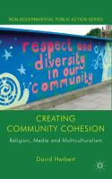 Cover image for Creating Community Cohesion Religion, Media and Multiculturalism