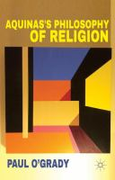 Cover image for Aquinas's Philosophy of Religion