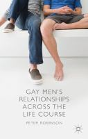 Cover image for Gay Men's Relationships Across the Life Course